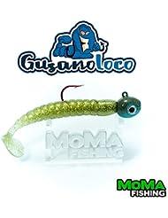 Señuelo de pesca de vinilo Gusano Loco talla M 9grs (Kaki)