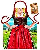 Lustige bayrische Themenschürze - Bayrische Tracht Dirndl : Alpendirndl -- Kochschürze + gratis Urkunde
