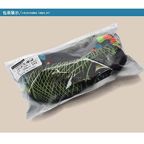 Scarpe da scoglio per Uomo e Donna,Aqua calzini per Immersione Nuotare Spiaggia Surf Yoga sport acquatico traspirante Antiscivolo verde