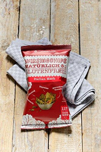 Heimatgut Wirsingchips Italian Herb ( 4 x 35g ) - natürliche Chips aus luftgetrocknetem Wirsing. Veganer und glutenfreier Snack ohne künstliche Zusatzstoffe. - 5