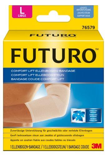 FUTURO FUT76579 Comfort Ellenbogen-Bandage, beidseitig tragbar, Größe: L, Maße: 28,0 - 30,5 cm