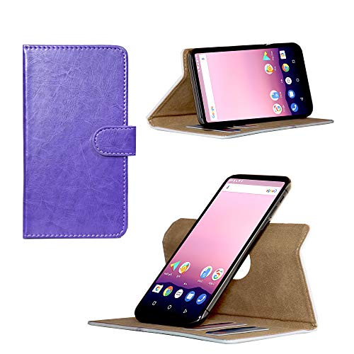 Handy Hülle für - MobiWire Dyami - Smartphone Tasche/Case mit 360 Grade Dreh und Standfunktion - 360° Nano M Lila