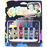 KABEER ART Face Painting Kit 6 Colors Kids Body Paint Sticks