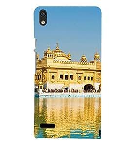 PrintVisa Designer Back Case Cover for Huawei Ascend P6 (Guru Nanak Golden Temple Satnam Sri Waheguru Gurudwara )