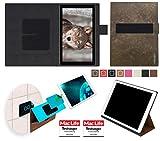 reboon Hülle für Blaupunkt Endeavour 101L Tasche Cover Case Bumper | in Braun Wildleder | Testsieger