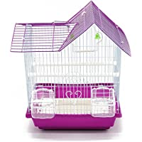 BPS Bird Cage Metal con Feeder Drinker Swing Jumper Color Rosa 30 x 23 x 39 cm BPS-116