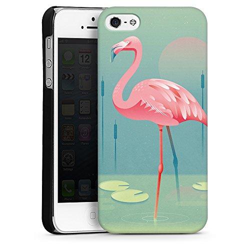 artboxONE Handyhülle iPhone 4/4S Flamingo - Comic - Smartphone Case mit Kunstdruck hochwertiges Handycover kreatives Design Cover aus hartem Kunststoff von Rainer Michael Hard Case schwarz