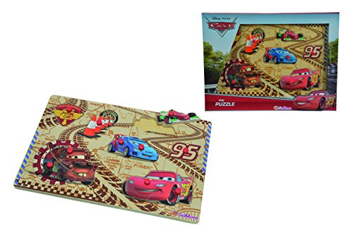 Eichhorn - 100003287 - Puzzle à buttons - Disney - Cars 2 en Bois - 10 pièces