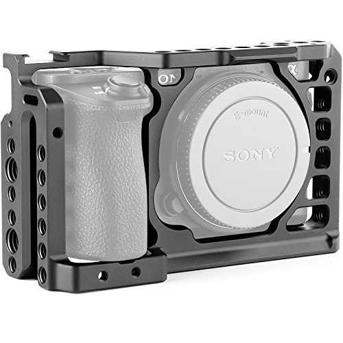 Jaula de cámara para Sony A6500 con agujeros roscados de 1/4