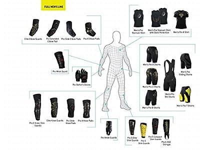 G-Form pro-g Board und Ski Compression Shorts, schwarz/gelb, S, unisex, Pro-G Board and Ski