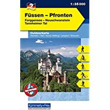 Outdoorkarte 02. Füssen - Pfronten 1 : 35.000: Neuschwanstein - Tannheimer Tal (Kümmerly+Frey Outdoorkarten Deutschland)