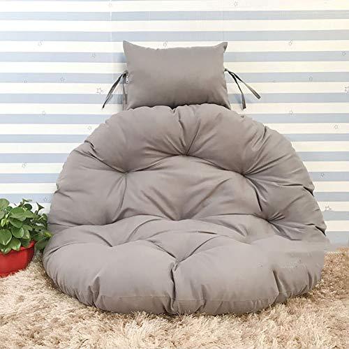 ZXY Swing Coussin Fauteuil Chaise de rotin Swing nid,Rond Antidérapant Coussin de siège balançoire Confortable Accueil Yard-Gris diamètre100cm(39inch)