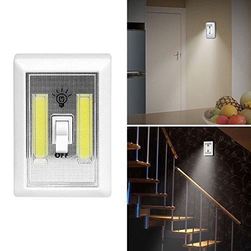 166 lúmenes】iMounTEK inalámbrico COB de emergencia magnético adhesivo LED interruptor de luz nocturna/armario/garaje/atril/pasillo/baño/dormitorio/cocina/encimera/armario/lectura nocturna/RV/barco