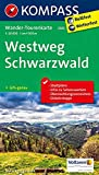 Westweg Schwarzwald: Wander-Tourenkarte. GPS-genau. 1:50000 (KOMPASS-Wander-Tourenkarten, Band 2505) -
