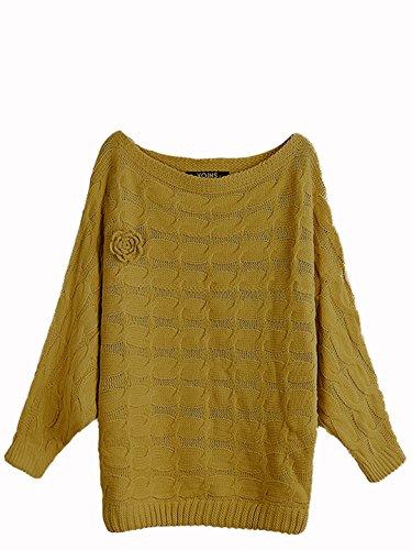 YOINS Damen Pullover Gelb