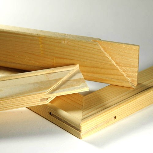 Keilrahmenleisten Set zum Selbstbau Keilrahmen im Format 120 x 50 cm / 50 x 120 cm
