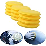 Ouba 12pcs Depilación a la cera de esponja de espuma para cojines del aplicador limpio del coche del interior de los vehículos de forma redonda
