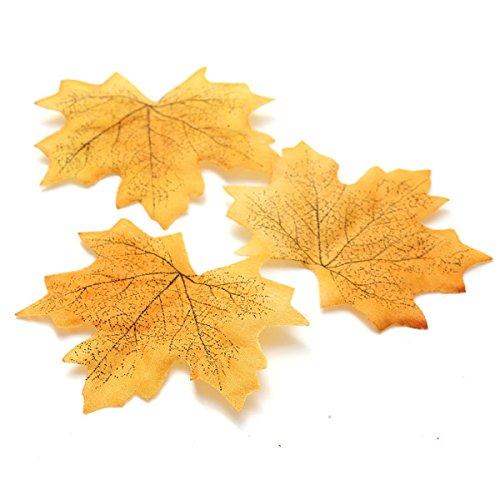 100pcs Künstliche Ahorn-die Blätter Fallen-blatt-party Dekor Ornament, 04 (Künstliche Fallen Blätter)