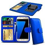 N4U Online® Posh Titan Max HD E550 PU-Leder-Clip-Mappen-Kasten-Abdeckung mit Kreditkarte, Notes & ID Slots - Blau