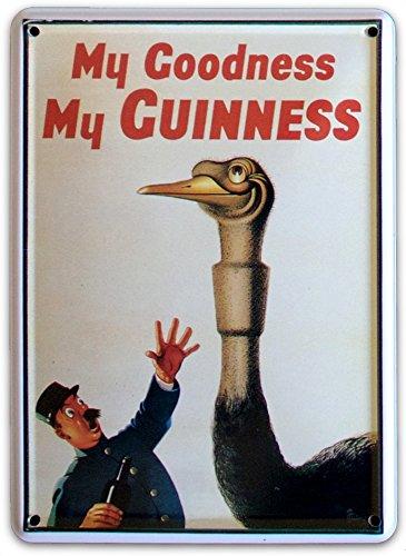 Guinness Irlandese Struzzo piccolo latta in metallo