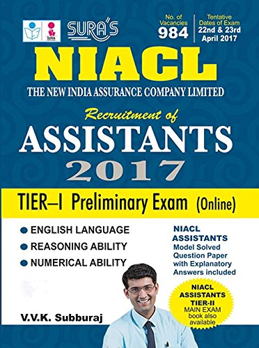 New India Assurance Company Limited Assistants ( NIACL ) Tier 1 Prelims Exam Books 2017