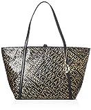 ARMANI EXCHANGE Gold Logo Shopping Bag - Borse Tote Donna, Oro (Black/Gold), 28x13x49 cm (B x H T)
