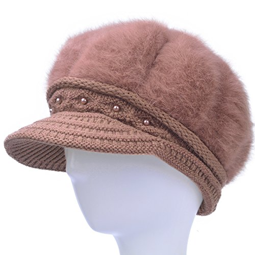 Wenxin0815 Hat HatOld Man Winter Hat With Warm Terry Knitted Hat,Red Bean Paste