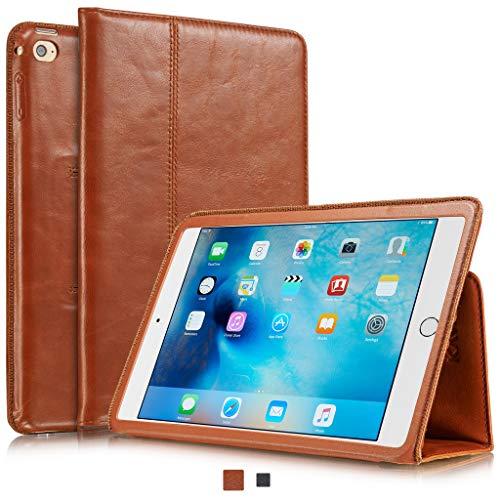 KAVAJ Lederhülle Berlin geeignet für Apple iPad Mini 5 (2019) und 4 Hülle Echtleder Case Cognac-Braun aus echtem Leder mit Stand & Auto Schlaf/Aufwachen Funktion. Dünnes Smart-Cover Schutzhülle