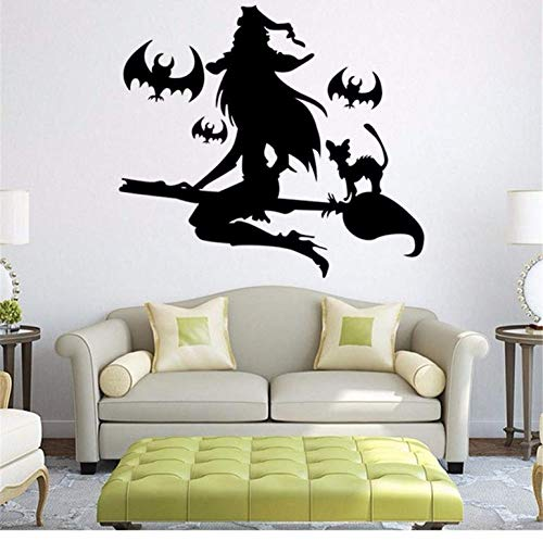 Wandaufkleber Vinyl DIY Happy Halloween Wand Fensteraufkleber Art Vinyl Home Raumdekoration 54x57 cm ()
