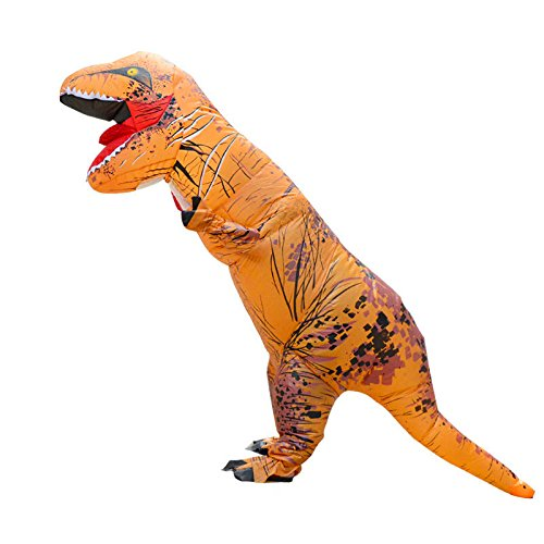 Aufblasbares Kostüm, Jurassic World Dinosaurier Halloween Bars Clubs Party Parks Veranstaltungen Fernsehprogramme SupermarktKleidung, Fit for Adult Männer Dame (a, Gelb)