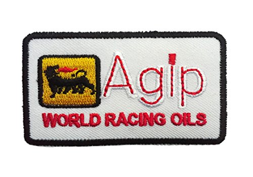 ecusson-agip-logo-racing-sponsor-blanc-75x44cm-patches-brode-appliques-embroidery-thermocollant