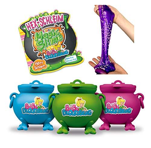 CRAZE Toys 17586 MAGIC SLIME Bibi Blocksberg magischer Spielzeug Schleim inkl. Spielfigur Kinderschleim im Kessel 150 ml 17586, mehrfarbig