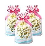 Funcoo 30pz coulisse Gift Treat bag, sacchetto di plastica party favor Bags, Candy golosità borsa per la festa nuziale nuziale Baby Shower Birthday fidanzamento Christmas Holiday favor. Style-1