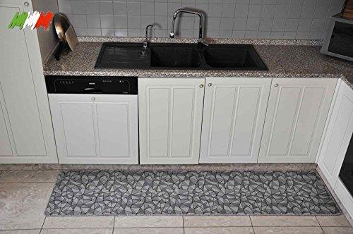 Casatessile Cocina Amplia Alfombra de Plata 50 cm. - VAR. 1, 200 cm.