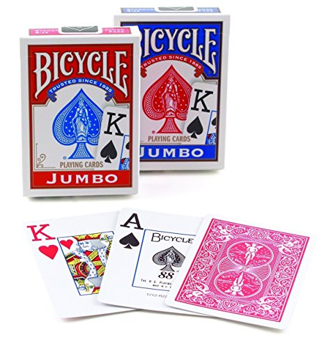 Bicycle jumbo index playing cards- colori assortiti
