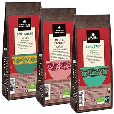 Pack Éco Thé noir bio aromatisés - 3 x100g