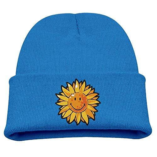 UUOnly Sunflower Smile Beanie Caps Knitted Mützen Winter Warm Infant