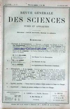 revue-generale-des-sciences-no-13-du-15-07-1897-a-etard-j-godefroy-c-e-giullaume-les-rayons-x-et-la-dissociation-l-de-launay-les-diamants-du-cap-g-lavergne-electricite-et-artillerie
