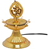Bubby 1 Layer Electric Diya Deepak Light Lamp For Pooja/Puja/Mandir/Home Decoration For Festivals Diwali/Christmas Home Decoration Light/Diwali Light (Gold)