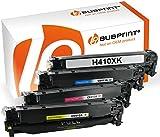 Bubprint 4 Toner kompatibel für HP CE410X CE411A CE412A CE413A für Laserjet Pro 300 Color MFP M375NW M351A Pro 400 Color M451DN M451DW M451NW BK C M Y