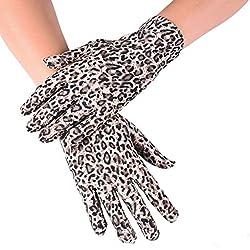 Huasho Guantes de Fiesta con Estampado Guantes de Mujer Guantes Elegantes con Dedos completos,KH