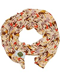 New with Tags Farm Animals Print Design Women's Scarves Large Scarfs Shawl (Cream)