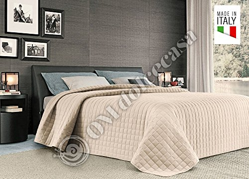 Couvre-lit matelassé en microfibre de l'hôtellerie et B & B Taille unique 1 Piazza cm 170 x 260 produit italien