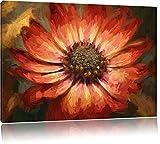 schöne Zeichnung einer Blüte Format: 120x80 auf Leinwand, XXL riesige Bilder fertig gerahmt mit Keilrahmen, Kunstdruck auf Wandbild mit Rahmen, günstiger als Gemälde oder Ölbild, kein Poster oder Plakat