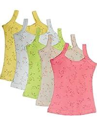UCARE Care Pure Cotton Plain Slip for Girls & Kids (2013-Packof5) (Multicolor)