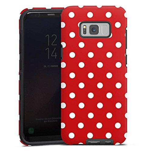 Samsung Galaxy S8 Hülle Tough Case Schutzhülle Punkte Rockabilly Kleid (Besonderen Anlass Kleid Muster)