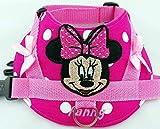 Hundegeschirr S M L XL XXL Brustgeschirr bestickt mit Maus in Pink für kleine, mittelgroße und große Hunde