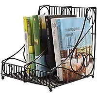 Estante para revistas estante para periódicos simple de metal almacenamiento de datos estante para revistas estudio estudio estante de almacenamiento sala de estar estante para periódicos