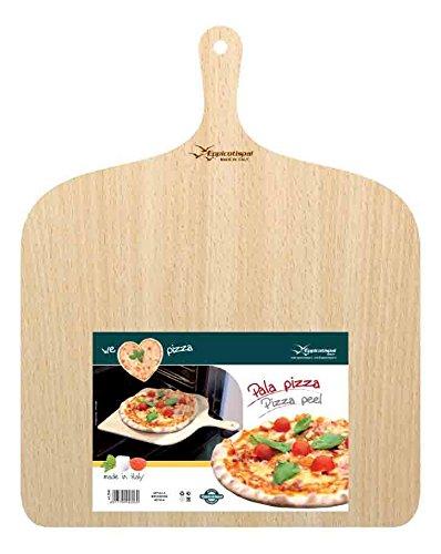 Pizza Peel Wood Paddle Board Tray, Pizza Maker Serving & Cuting - 30x30 cm // 37x38 cm (XL // 37x38 cm)