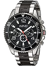 August Steiner Reloj con movimiento cuarzo suizo Man AS8119TTB Negro / Plateado 46 mm46 mm x 46 mm